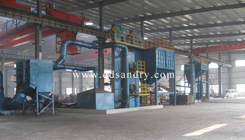 十吨树脂砂生产线